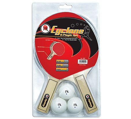 MARTIN KILPATRICK CYCLONE 2 PLAYER PING PONG PADDLE SET