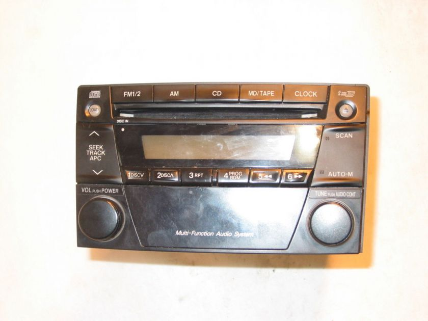 02 03 04 MAZDA TRIBUTE MPV CD PLAYER AM / FM RADIO, YEFM031253