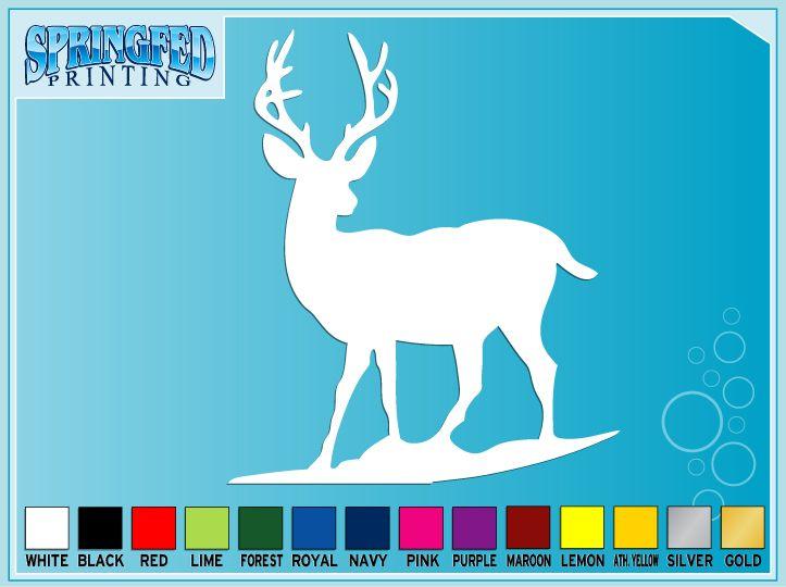 DEER Silhouette #1 Deer Hunting cut vinyl decal sticker
