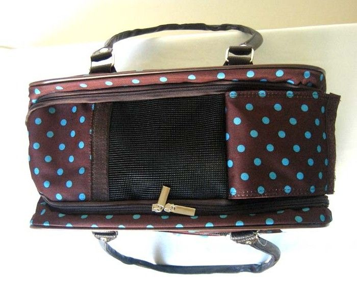 16 Pet Luggage/Carrier Dog/Cat Travel Bag Purse Dots